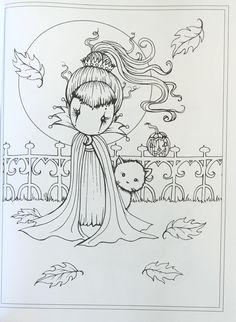 Whimsical Halloween Coloring Book: Witches, Vampires Kitties and More! Fairy Coloring Pages, Halloween Coloring Pages, Free Coloring Pages, Coloring For Kids, Printable Coloring Pages, Coloring Books, Coloring Sheets, Whimsical Halloween, Easy Halloween Decorations