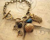 Snitch. Harry Potter inspired charm bracelet