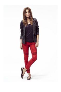 Veste femme, tee-shirt IKKS et pantalon slim
