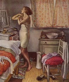 Born and educated in Nottingham Dame Laura Knight 'Bedroom' by one of our foremost English painters. Harlem Renaissance, Art Deco, Figure Painting, Painting & Drawing, Mode Poster, Arte Fashion, Munier, Figurative Kunst, English Artists