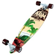Atom 35-inch Surf Pin-tail Longboard - Overstock™ Shopping - Great Deals on MBS Skateboards