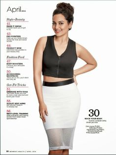 Sonakshi Sinha in 'Women's Health' magazine. #Style #Bollywood #Fashion #Beauty
