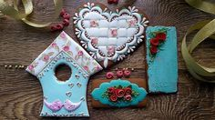 """Wedding cookie set """"Shabby chic...with love"""" 