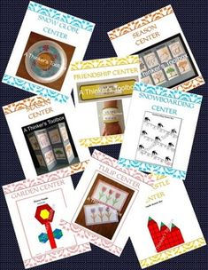 CENTERS FOR THE SEASONS BUNDLE - A Thinker's Toolbox (Winter Spring Summer Fall). Included in this super saver bundle are my 4 center products listed below. Each center fun product includes 5 center activities which means you will receive 20 fun center activities in all.