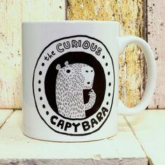 The Curious Capybara Mug by TheCuriousCapybara on Etsy