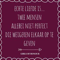 Zo zou het moeten zijn.. elkaar accepteren en van elkaar houden hoe diegene is.. niemand is perfect maar ware liefde wel!
