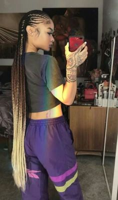 Top 60 All the Rage Looks with Long Box Braids - Hairstyles Trends Big Box Braids, Blonde Box Braids, Black Girl Braids, Braids For Black Hair, Girls Braids, Braided Hairstyles For Black Women, African Braids Hairstyles, Weave Hairstyles, Girl Hairstyles