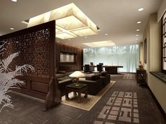 Traditional Chinese Interiors | Chinese interior design yellow wood TV wall for living room | 3D house ...
