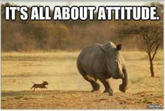 Attitude is the first key to success!