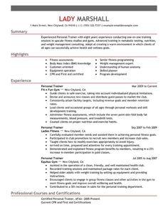 Trainer Resume Example Prepossessing Resume Examples General  Pinterest  Resume Examples