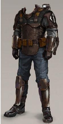 """"""" Light Milita Armor """" A bit vintage. All parts looks craftable. Armadura Cosplay, Dystopia Rising, Style Steampunk, Armor Clothing, Mode Costume, Armadura Medieval, Sci Fi Armor, Future Soldier, Star Wars Rpg"""