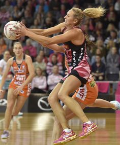 Erin Bell of the Thunderbirds during the round eleven Super Netball match between the Thunderbirds and the Giants at Priceline Stadium Arena on May 7, 2017 in Adelaide, Australia.