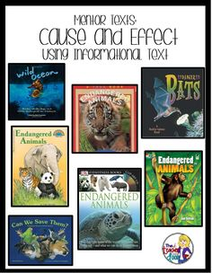 Ideas you can use now to teach Cause and Effect Using Informational Text!