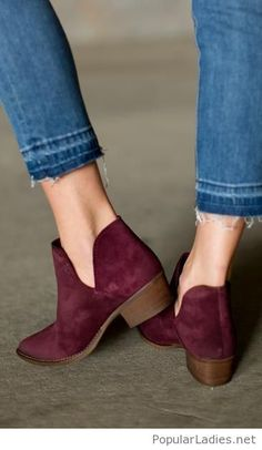 Vintage jeans and burgundy boots