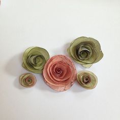 How to make rolled paper roses. - So easy!!