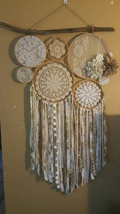 Arzella Vintage Lace and Doily Wall Art