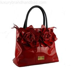 Valentino Purse Patent Leather Red