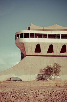 Abandoned dog track in AZ. Photo by Kyle Johnson.