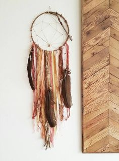 DREAM WEB Native  American Large Dreamcatcher by MOONDROPSjewelry