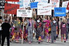 Pin for Later: Karl Lagerfeld Put Ladies First at a Politically Charged Chanel Show Chanel Spring 2015