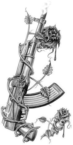 Chicano Art Tattoos, Gangster Tattoos, Body Art Tattoos, Gun Tattoos, Tattos, Best Sleeve Tattoos, Tattoo Sleeve Designs, Tattoo Designs Men, Dark Art Tattoo