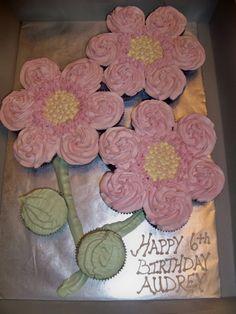 cupcakes - cake - flowers
