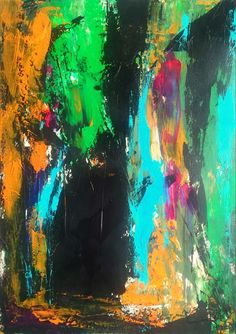 """DYNAMISCH EXPRESSIV""8 Acryl auf leinwand 70 x 50 x 1 2018 € 680 Gordana Veljacic Painting, Canvas, Painting Art, Paintings, Painted Canvas, Drawings"