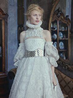 Julia Nobis by Ben Toms Dress: Alexander McQueen F/W 2013/14 AnOther Magazine F/W 2013/14
