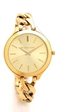 Michael Kors Slim Runway Twist Watch - possibly a better option for petite wrists