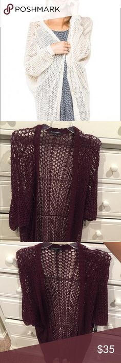 Brandy Melville Maroon Long Cardigan Super cute long cardigan! I am 5'6 and it goes a little longer than the back of my knees. Absolutely perfect condition! Brandy Melville Sweaters Cardigans