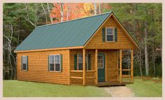 Since my yard isn't really big, I think a log cabin like this one placed in my own corner of the woods somewhere would be a great get-away. I'll ask my friend Dave of Cozy Cabins to customize one for me.