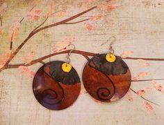 Earth Wise Wood Canvas Earrings