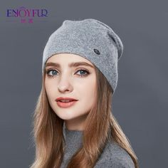 c259c02e38c ENJOYFUR Autumn Winter Thick Warm Wool Hats For Women Good Quality Hat Cap  For Girls Female Winter Caps
