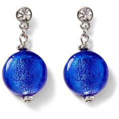 Blue Coin Bead Earring (32 CAD) ❤ liked on Polyvore featuring jewelry, earrings, accessories, bijoux, blue, beaded jewelry, nickel free earrings, coin earrings, beads jewellery and blue earrings