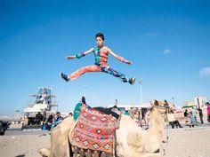 Slideshow : Gaza 'Spiderboy' seeks to storm Guinness world records - Gaza 'Spiderboy' seeks to storm Guinness world records - The Economic Times