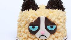 GRUMPY CAT CAKE - NERDY NUMMIES- Rosanna Pansino