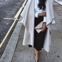 black midi skirt, simple lines