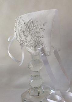 Handkerchief Baby Bonnet  Hanky Bonnet by myheavenlydesigns