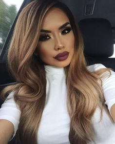 Wavy Long Wigs For African American Women The Same As The Hairstyle In The Picture - Wigs For Black Women - Lace Front Wigs, Human Hair Wigs, African American Wigs, Short Wigs, Bob Wigs Beauty Makeup, Hair Makeup, Hair Beauty, Eye Makeup, Women's Beauty, Beauty Style, Asian Beauty, Long Wigs, Short Wigs