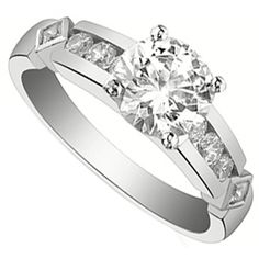 Channel-Set Engagement Ring
