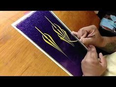 How To Pinstripe: Simple Pinstriping Design #4 - YouTube
