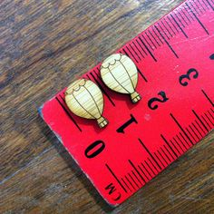 One Pair Mini Hot Air Balloon Wooden Laser Cut by CraftyCutsLaser, $1.35 #craftycutslaser #lasercut #lasercutwood