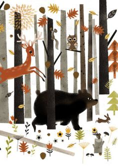 Roger la Borde | Woodland Critters Greeting Card by Daniel Roode