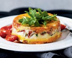 Canadian Cheddar, Bacon and Tomato Stratas - way more elegant than a plate of bacon and eggs!