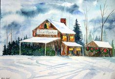 Watercolor art -  via Etsy.  Artworkseclectic