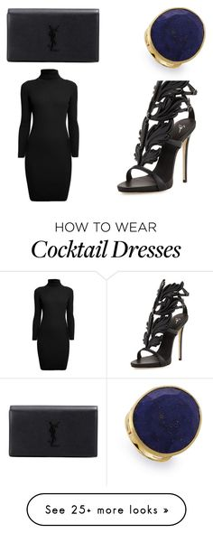 """""""formal"""" by frxnsis on Polyvore featuring Giuseppe Zanotti, Yves Saint Laurent, Marco Bicego and Rumour London"""