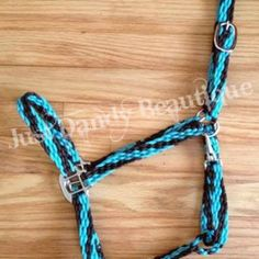 Love the color options of paracord, but aren't a fan of rope halters?  We now offer Stable Halters!  Choose up to four colors.  Available in 3/4 inch or 1 inch widths.