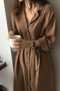 Long Sleeve Shirt New Casual Patchwork Buttons Loose Blue Brown Dresses - Source by jamtonisam - Cute Casual Outfits, Modest Outfits, Dress Outfits, Casual Dresses, Fashion Outfits, Long Shirt Outfits, Shirt Style Dresses, Dress Shoes, Loose Dresses