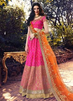 Jazzy A Line Lehenga Choli For Bridal