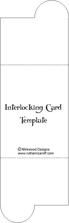 Interlocking Card Template – Paperandmore.com